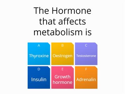 animal hormone quiz Animal tissue quiz you have completed human endocrine system: mcqs quiz which of the following hormones synchronizes.