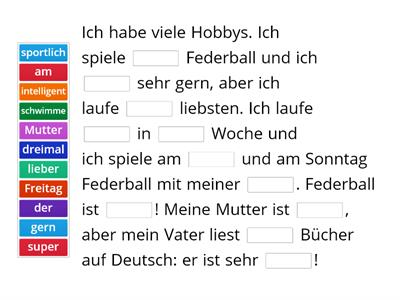 German missing word frequency 2