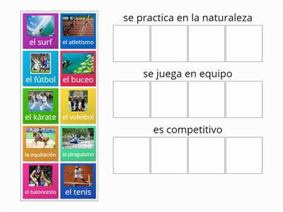 2,  Spanish sports in categories
