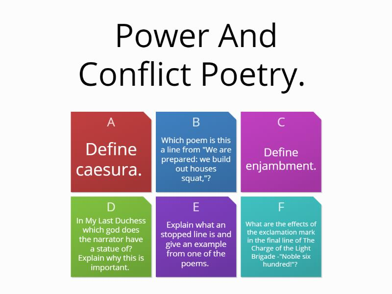 Power And Conflict Poetry. - Teaching resource