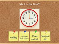 What's the time? 1