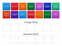 Foreign vs. Domestic Policy