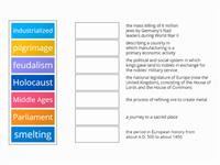 Chapter 12 Lesson 2 History of Western Europe Social Studies Vocabulary