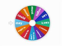 Modal Verbs Spinner - obligation/permission/possibility