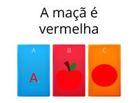 FRASES SIMPLES E CORES
