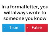 formal letter writing quiz 2
