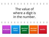 Math Vocabulary - Unit 1 Week 2