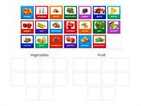 Fruit and vegetables - sorting