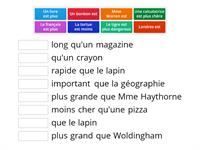 Haythorne French comparatives match up