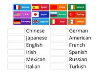 Countries and Nationalities Match Up