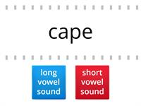 Long or short vowel sounds