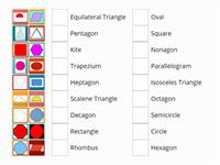 Naming 2D Shapes Match Up