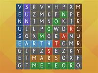 Wordsearch of Space Vocabulary