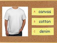 Vocabulary materials for clothes