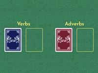 Verbs and Adverbs card game
