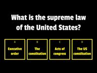 Civics questions from the US naturalization test