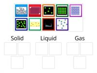 Solid Liquid Gas Card sort