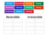 Reversible and irreversible changes to materials