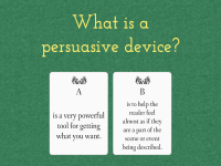 Persuasive devices - Quiz