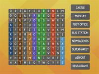 Places in a city Wordsearch