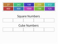 Square and cube numbers (using sort)