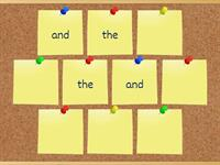 First 5 high frequency words pairs game