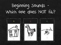 Beginning Sounds - Odd Man Out