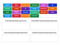 Subordinating Conjunction Category Sort