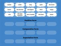 55 Adjectives Positive Comparative Superlative Grouping