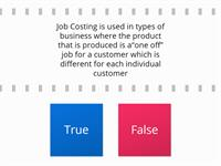 Methods of Costing – Job Costing - Management Accounting- AAT 3
