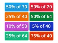 Percentages word wall activity