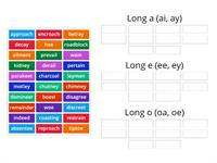 Vowel team sort (ai,ay,ee,ey,oe,oa)