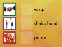 Match the pictures with their words