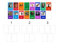 Counting 1, 2, and 3 Syllables - Animal Theme