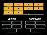 vowels or not vowels