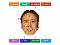 French Face Vocab