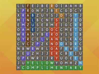 Colour wordsearch