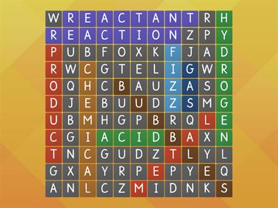 Metals in acid wordsearch