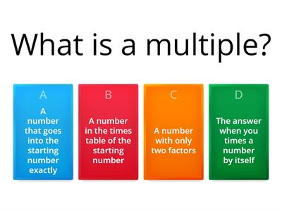 Factors Multples and Primes KS3