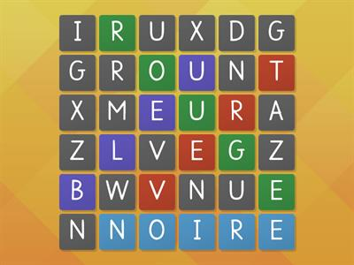 colour word search