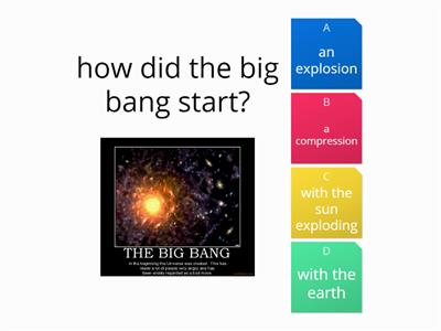 big bang quiz plenary