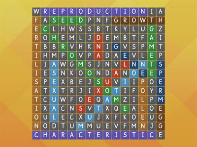 Reproduction wordsearch