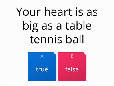 organs true or false quiz