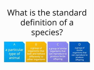 naming species quiz