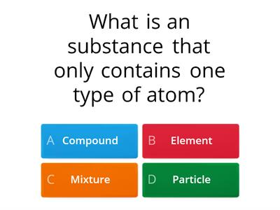 Elements, mixtures, compounds