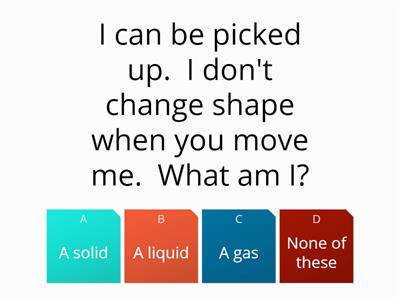 Solids and liquids revision quiz