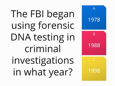 Forensics and the law