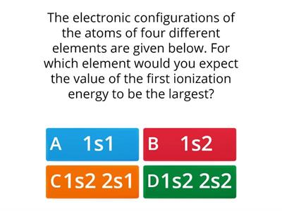 Plenary quiz periodic properties and IE