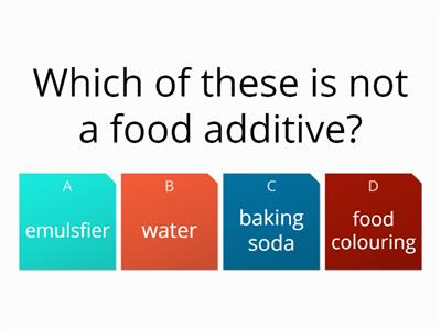 cooking baking powder and emulsifier quiz