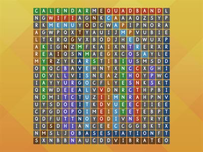Mobile Phone key words wordsearch
